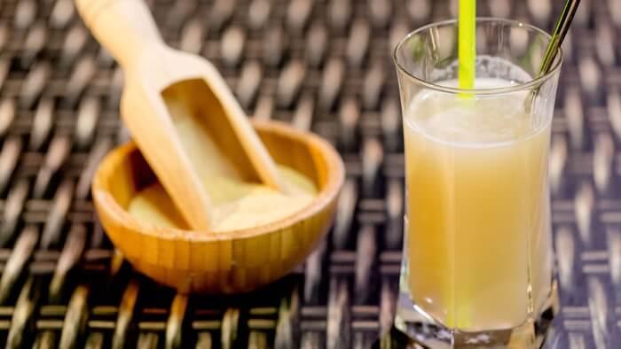 Bevanda d'oro con curcuma