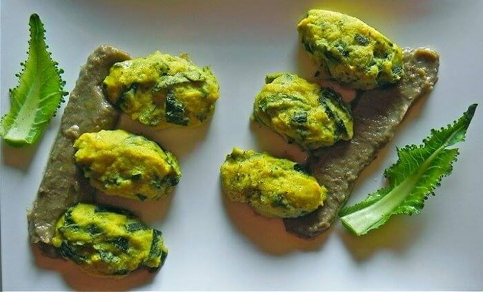 Frittelle al forno di zucchine con mousse di lenticchie