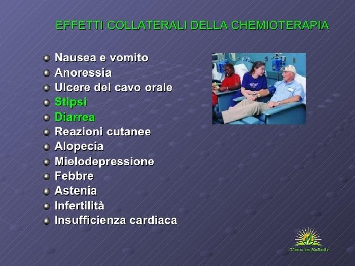 Chemioterapia effetti colaterali