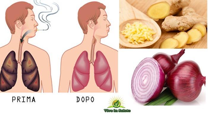 Bevanda per pulire i polmoni