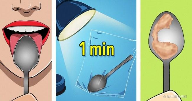 Controllare la salute in un minuto usando solo un cucchiaio