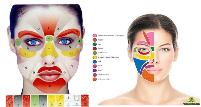 Diagnosi del viso carenza di vitamine e nutrimenti