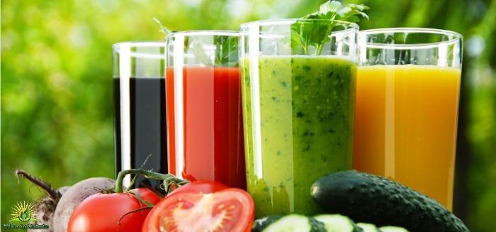 Succhi di frutta e verdura buoni e salutari