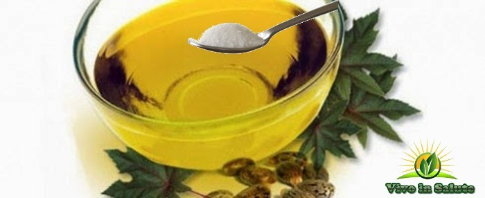 Olio di ricino e bicarbonato di sodio