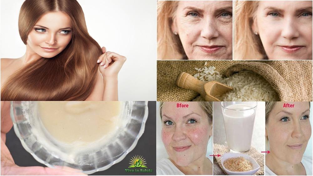 Acqua di Riso per la pelle del viso e capelli